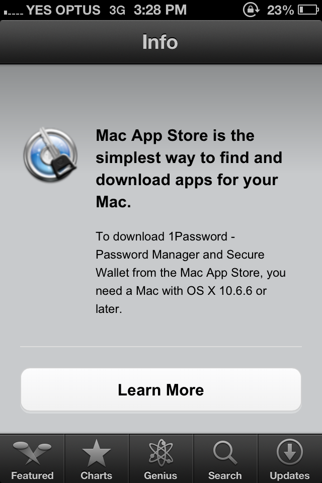 Mac Application in the iOS App Store
